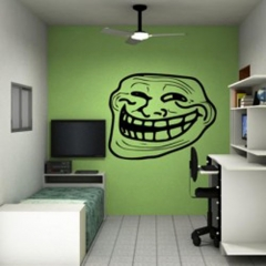 Adesivo decorativo os memes - troll.