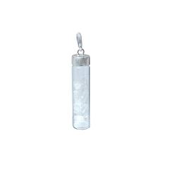 Pingente mar de prata sal grosso coleção mensagem na garrafa
