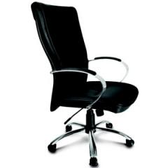 Cadeira giratória de couro