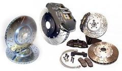 Pastilha de freio, disco de freio, tambor de freio, sapata de freio, pinça de freio, cilindro mestre de freio, cilindro de roda, servo de freio, cabo de freio em geral