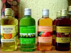 óleo de massagem e hidratação