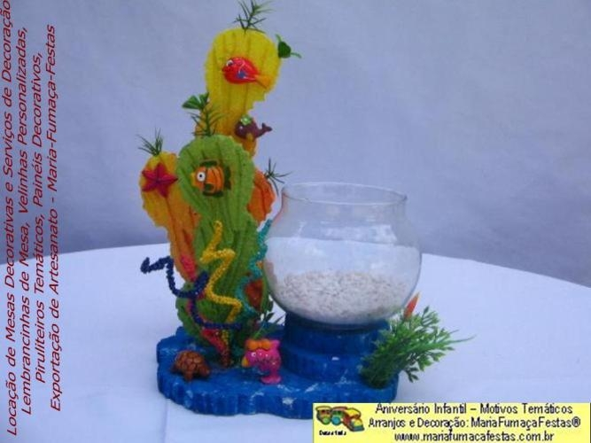 Centrinho de Mesa Fundo do Mar  -   Exclusividade MariaFumaçaFestas para decorar o evento de Aniversário Infantil. Saiba mais, acessando:  www.mariafumacafestas.com.br. Se preferir, fale conosco (61)35636663 / (61)84062422 - Quer saber mais e ver dicas sobre o assunto, acesse também: www.temasinfantis.com.br  ou www.multidicas.com.br