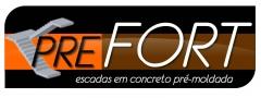 Logomarca criada para a empresa Prefort escadas em Indaiatuba/SP
