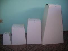 Urna de papelão branco, 5 modelos.