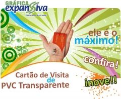 Cartões de visita de pvc transparente, uma inovação incrível.