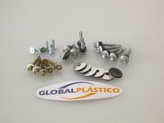 Acessórios para montagem do policarbonato