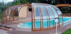 Cobertura de piscina com policarbonato