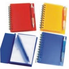 Bloco para anotações com caneta