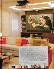 Home theater com projetor, telÃo e lift