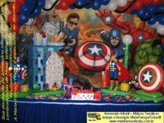 Os vingadores (the avengers) - maria fumaça festas - temas e decoração para o seu aniversário infantil. www.mariafumacafestas.com.br