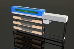 Maquina de insertar buchas em varões de roçadeiras Shindawia