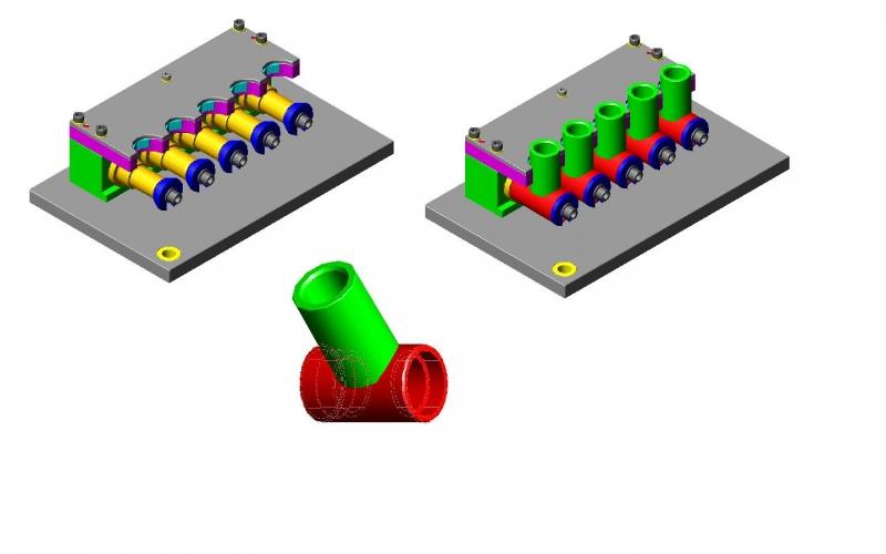 Dispositivo de fixação rapida para usinagem em CNC para canote Movement