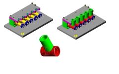 Dispositivo de fixa��o rapida para usinagem em cnc para canote movement