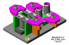 Dispositivo de fixação rapida para usinagem em cnc para peça microfundida movement