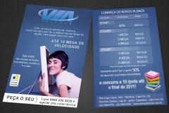 Cliente via nova - campanha e flyer
