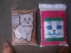 Areia p/ xixi de gato- granulada biodegradável - 2 kilos