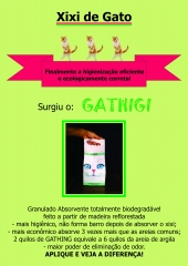 Areia para xixi de gato biodegrad�vel ecol�gica