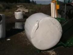 Fardo de silagem de milho embalado -960 kg - pode ser estocado em céu aberto