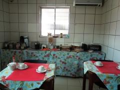 Café da manhã no hotel veraneio