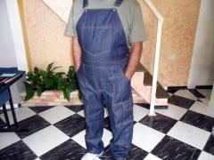 Jardineira em jeans modelo masculino