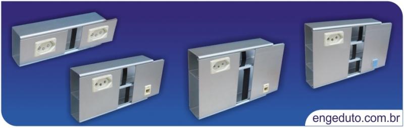 Canaletas / eletrocalhas de alumínio para parede. Atende a quaisquer projetos.