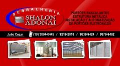 Cartão de Visita Serralheria Shalon Adonai em Sumaré/SP