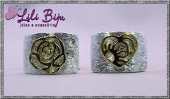 Anéis 2 cores: prata com dourado.