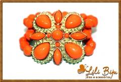 Bracelete de flor. várias cores.
