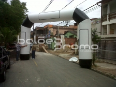 Portal inflável - infláveis promocionais - www.baloespromo.com.br