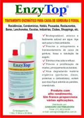Folheto de enzima desentupidora e de limpeza de caixas e sistemas de gordura e esgotos.
