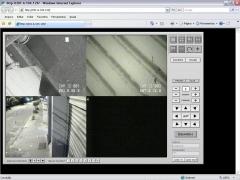 Visão das câmeras no aplicativo do computador.