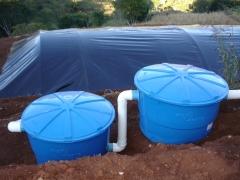 Cisterna com cobertura em pead e filtros