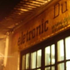Séde da deletronic na cidade de cananéia - sp- brasil. foto tirada em uma noite do verão de 2011