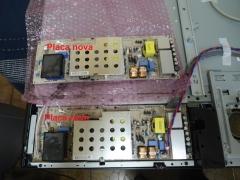 Lcd 42lg60r :foi trocado placa da fonte nova