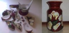 Porcelana nacional - pintada a mão - cliente particular