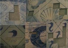 Fragmentos de área do painel de azulejaria- portinari- palácio capanema - rj (antes)