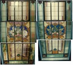 Janela com vitrais- cliente particular. rj - (antes e depois)