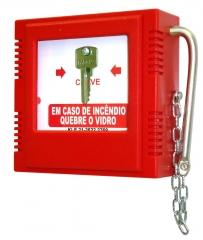 Caixa para chave de emergencia