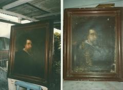 óleo sobre tela- retrato ( rubens) escola européia. - particular - rj