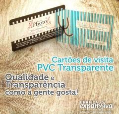 Cartões de visita de pvc transparente - http://expanssiva.com.br/produto/cartoes-de-visita-pvc-transparente-4x0-35