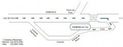 Mapa do cantinho do céu partindo de juiz de fora (mg).