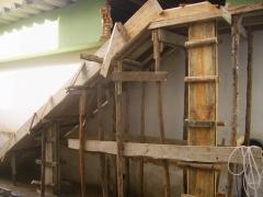 Forma preparada para receber concreto (escada)