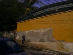 Revestimento cer�mico (pastilhas) em fachada