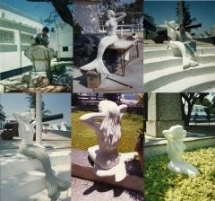 Criação e reprodução de  esculturas em  concreto armado- ciaw - ilha das enxadas - marinha - rj