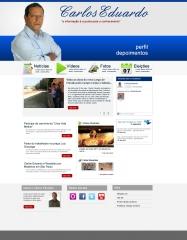 Blog hotsite campanha política. criação, design, plano de marketing, geração de conteúdo.