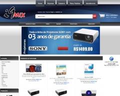 Criação, deisng e aplicação de layout para loja virtual i9mix