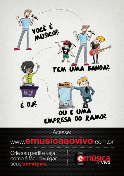 Para o músico, a banda, dj ou empresa de serviços da música