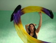 Véu pói. um charme na dança do ventre! http://www.pinturaemseda.com.br/veusedadancaventre/?id_menu_produto=6