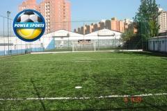 Quadra de futebol society grama sintética