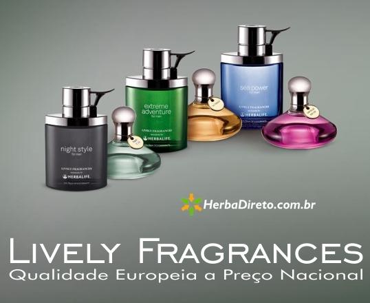 Perfumes Lively Fragrances em www.herbadireto.com.br